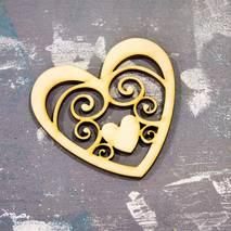 """Заготовка """"Сердце в сердце"""" - Фигурные заготовки"""
