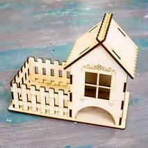 """Заготовка """"Чайный домик с заборчиком"""", 23х18х11 см - Чайные домики"""