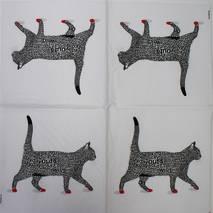 """Салфетка 33*33 см """"Шрифтовой кот"""" - Флора и фауна"""