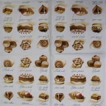 "Салфетка 33*33 см ""Сладости"" - Кухонная тематика и еда"
