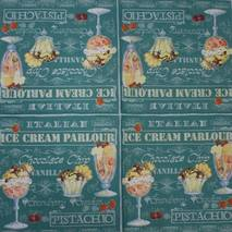"Салфетка 33*33 см ""Мороженое"" - Кухонная тематика и еда"