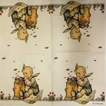 """Салфетка 33*33 см """"Малыш и мед"""" - Винтажные салфетки"""