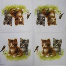 """Салфетка 33*33 см """"Котята играют"""" - Флора и фауна"""