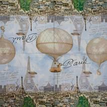 """Салфетка 33*33 см """"Воздушный шар в Париже"""" - Города и пейзажи"""