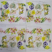 """Салфетка 33*33 см """"Открытка с цветами"""" - Флора и фауна"""