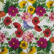"Салфетка 33*33 см ""Бабочка в цветах"" - Флора и фауна"