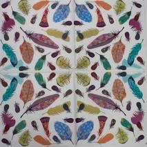 """Салфетка 33*33 см """"Разноцветные перья"""" - Флора и фауна"""