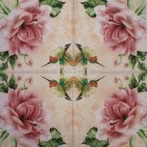"""Салфетка 33*33 см """"Колибри и цветок"""" - Флора и фауна"""