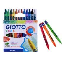 GIOTTO CERA 12 цв. Восковые карандаши, 12 шт - Канцтовары
