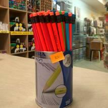 Чернографитные карандаши HB  с ластиком, LYRA NEON HB - Канцтовары