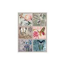 """Рисовая карта """"Цветы и бабочки"""", 30*41 см - Декупажные карты"""
