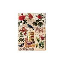 """Рисовая карта """"Цветы и письма"""", 30*41 см - Декупажные карты"""
