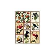 """Рисовая карта """"Цветы и птица"""", 30*41 см - Декупажные карты"""