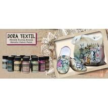 Краска для тканей Dora Textile Metallic Fabric Paint, 50 мл - Краски по ткани