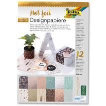 Набор односторонней бумаги с металлизированными элементами, 12 листов, А4 - Односторонняя скрап бумага