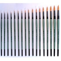 Кисть круглая, Золотой синтетик, короткая ручка - Инструменты