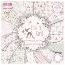 Бумага для скрапбукинга из набора First Edition - It's a Girl, 15,2*15,2 см - Бумага для скрапбукинга