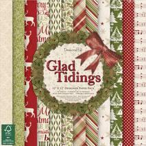 """Бумага для скрапбукинга из коллекции """"Glad Tidings"""" Dovecraft, 30,5х30,5 см - Бумага для скрапбукинга"""