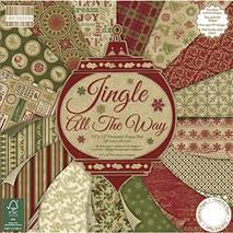 "Бумага для скрапбукинга из коллекции ""Jingle all the way"" First edition paper, 30,5х30,5 см - Бумага для скрапбукинга"