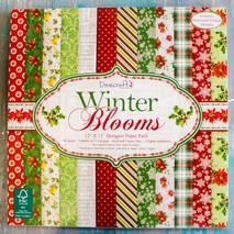 "Бумага для скрапбукинга ""Winter blooms"", Dovecraft  30,5х30,5 см - Бумага для скрапбукинга"