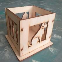 "Заготовка - карандашница ""Кот и собака"" - Подносы и ящики"