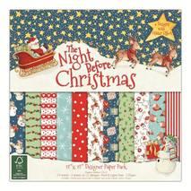 """Бумага для скрапбукинга """"The Night Before Christmas"""", 15,2х15,2 см - Бумага для скрапбукинга"""