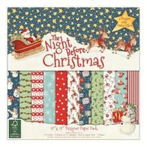 """Бумага для скрапбукинга """"The Night Before Christmas"""", 30.5*30.5 см - Бумага для скрапбукинга"""