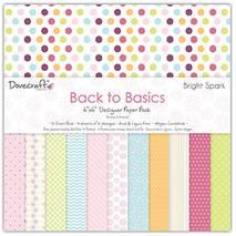 Бумага для скрапбукинга, 30*30 см, коллекция Dovecraft Back To Basics Bright spark - Бумага для скрапбукинга