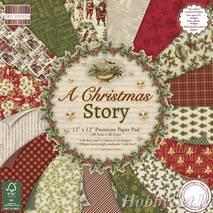 Бумага для скрапбукинга из набора First Edition - Christmas Story, 30,5*30,5 см - Бумага для скрапбукинга