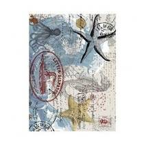 """Рисовая карта """"Морские элементы"""", 21*29 см - Декупажные карты"""