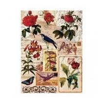 """Рисовая карта """"Цветы и птицы"""",30*41 см - Декупажные карты"""