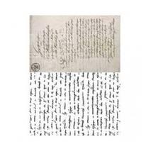 """Рисовая карта """"Текст"""", 21*29 см - Декупажные карты"""