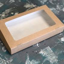 Коробка картонная с окошком, 250х150х40 мм - Упаковка