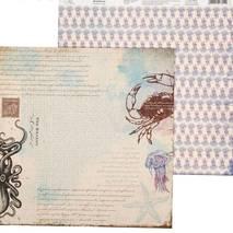 """Бумага для скрапбукинга, 29,5*29,5 см, """"Морское путешествие"""", двухсторонняя Арт узор - Бумага для скрапбукинга"""