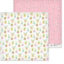 """Бумага для скрапбукинга, 29,5*29,5 см, """"Горшечные цветы"""", двухсторонняя Арт узор - Бумага для скрапбукинга"""