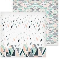 """Бумага для скрапбукинга, 29,5*29,5 см, """"Серые треугольники"""", двухсторонняя Арт узор - Бумага для скрапбукинга"""