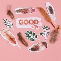 """Перышки для творчества """"Good day"""",12 штук - Объемные элементы"""