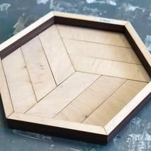Поднос шестиугольный - Подносы и ящики