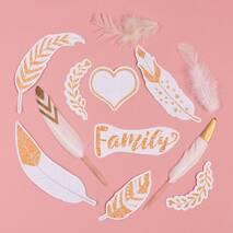 "Перышки для творчества ""My family"",12 штук - Объемные элементы"