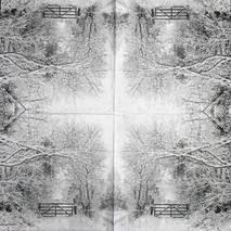 """Салфетка 33*33 см """"Ветки в снегу"""" - Новый год"""