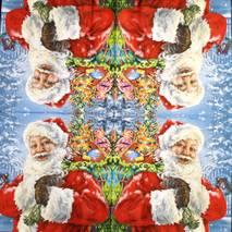 """Салфетка 33*33 см """"Санта с подарками"""" - Новый год"""