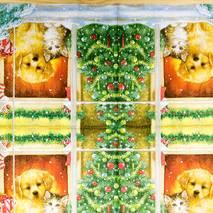 "Салфетка 33*33 см ""Собака и кот"" - Новый год"
