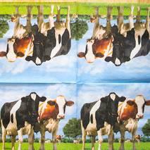"Салфетка 33*33 см ""Три коровы"" - Флора и фауна"