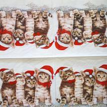 """Салфетка 33*33 см """"Коты"""" - Новый год"""