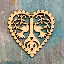 """Заготовка """"Сердце с деревом"""", 8х8 см - Фигурные заготовки"""