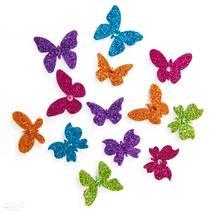 3D-наклейки с глиттером, бабочки, 13 штук - Наклейки