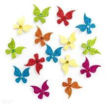 3D-наклейки с глиттером, бабочки, 15 штук - Наклейки