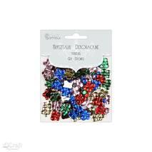 Стразы декоративные, разноцветные бабочки, 100 штук - Стразы, полубусины