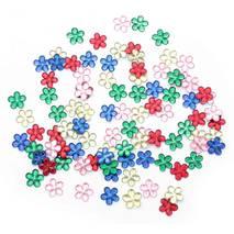 Стразы декоративные, цветы, 100 штук - Стразы, полубусины