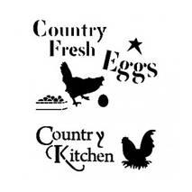 """Трафарет """"Курица и яйца"""", А4 - Трафареты"""